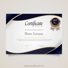 Discover thousands of copyright-free vectors. Graphic resources for personal and commercial use. Thousands of new files uploaded daily. Certificate Of Merit, Birthday Certificate, Certificate Design Template, Certificate Of Appreciation, Certificate Of Completion, Award Certificates, Letterhead Template, Brochure Template, Certificate Background