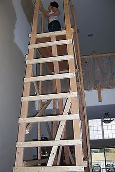 Simple Homemade Scaffolding Safe To Use And Inexpensive To