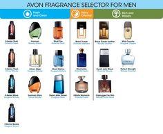 AVON Fragrance Selector for Men, Order your favorite scent at www.yopuravon.com/laurad
