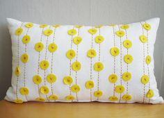 Felt and stitching pillow