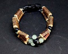 Bracelet Amérindien aventurine et obsidienne