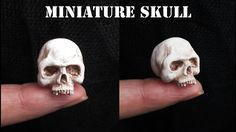 Newest Pic Clay sculpture skull Tips Miniature Polymer Clay Skull Tutorial // Maive Ferrando Polymer Clay Kunst, Polymer Clay Sculptures, Polymer Clay Miniatures, Fimo Clay, Polymer Clay Projects, Polymer Clay Charms, Polymer Clay Creations, Sculpture Clay, Clay Beads