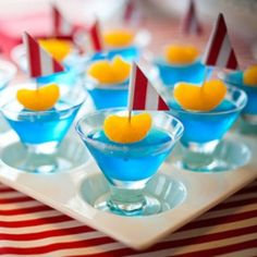 Jello sailboats. Would be great for a school party or summer snack.