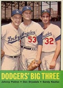 1963 koufax | 1963 Topps Sandy Koufax #9 National League Strikeout Leaders with Don ...