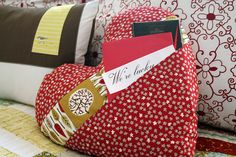 How cute is this?   Pocket Full of Love Pillow by | Cloud9 Fabrics, via Flickr