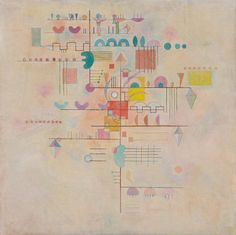Ascent Graceful Ascent, 1934 by Vassily Kandinsky from Solomon R. Guggenheim MuseumGraceful Ascent, 1934 by Vassily Kandinsky from Solomon R. Wassily Kandinsky, Franz Marc, Claude Monet, Abstract Words, Abstract Art, Abstract Paintings, Oil Paintings, Art Brut, Museums In Nyc