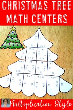These three puzzles are a great way to get some multiplication practice in while celebrating Christmas! These fun evergreen trees make an engaging, hands-on Christmas math center! Use them in your 3rd or 4th grade classroom for basic multiplying review! {third & fourth grade - 3 puzzles - $}