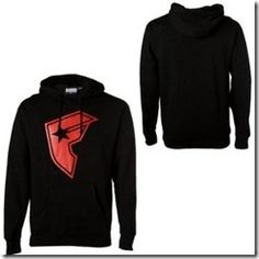 hoodie, black and red, Famous Star