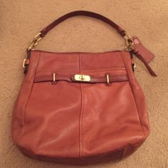 hermes kelly bag replica - Coach Brown & orange tote & wristlet One of a kind bag! Purchased ...