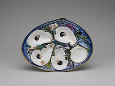 Oyster plate  Union Porcelain Works (1863–ca. 1922)  Date: 1881