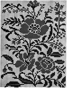 @nika Graph Crochet, Filet Crochet Charts, Crochet Curtains, Crochet Tablecloth, Knitting Patterns, Crochet Patterns, Charts And Graphs, Fair Isle Pattern, Patterns In Nature
