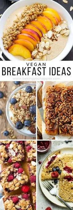 Quick and Easy Vegan Breakfast Ideas. Quick and Easy Vegan Breakfast Ideas. Quick and Easy Vegan Breakfast Ideas, a compilation of 20 menu ideas to mix up your breakfast routine and get your family eating healthier! Quick Vegan Breakfast, Vegan Breakfast Recipes, Vegan Recipes Easy, Vegan Ideas, Apple Breakfast, Vegan Snacks, Easy Snacks, Quick Easy Vegan Meals, Easy Vegan Food