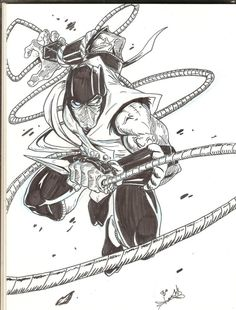 www comic art step by step mortal kombat | eachmortal kombat scorpion from mk submitted by step havent been