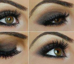 smoky eye in grey