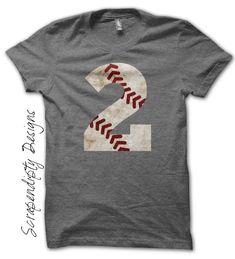 Baseball Number Shirt – Custom Baseball Mom Shirt / Baseball Birthday Party / Iron On Transfer Pattern by Scrapendipity Designs