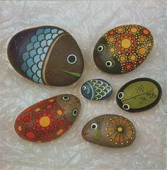 Роспись камней   Очумелые ручки