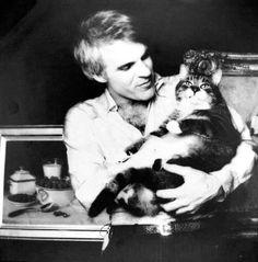 Steve Martin and cat.