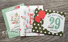 nutmeg creations: Occasions International Blog Hop Number of Years stamp set from Stampin Up