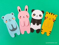 How to make DIY kawaii bookmarks – Ayelet Keshet - diy kids crafts Bookmarks Diy Kids, Creative Bookmarks, Paper Bookmarks, How To Make Bookmarks, Handmade Bookmarks, Corner Bookmarks, Crochet Bookmarks, Felt Bookmark, Bookmark Craft
