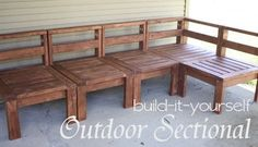 Build it yourself | Outdoor Sectional :: DIY Woodworking Plans Tutorial :: morelikehome.net