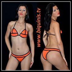 Biquíni IT GIRL 3D Orange com bojo Ref.12310 Tamanhos P e G.