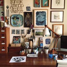 Home Office Corner Art Studios 65 Ideas For 2019 Home Art Studios, Studios D'art, Art Studio At Home, Studio Room, Bureau D'art, Artist Workspace, Workspace Desk, Desks, Art Studio Design