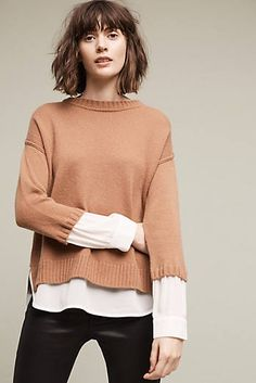 Layered Marquet Pullover