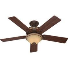 Hunter Aventine 52-inch Ceiling Fan with Cocoa Finish, Spanish Gold Accents and Five Dark Walnut/ Cherried Walnut Blades