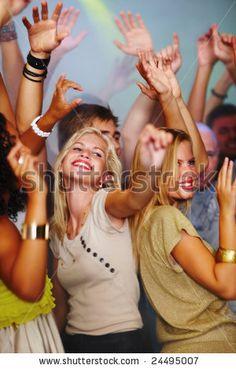 dancing, having fun