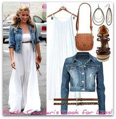 Hot Pics  Denim jackets Style and Maxi dresses