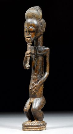 Africa | Figure from the Baule people of the Ivory Coast | Wood