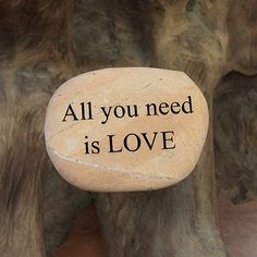 Engraved  Beach Pebble Message Stone - All you need is LOVE