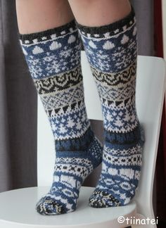 Fair Isle Knitting, Knitting Socks, Hand Knitting, Knitting Patterns, Knitting Ideas, Knit Shoes, Crafts To Do, Leg Warmers, Knit Crochet