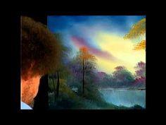 The Joy of Painting S14E3 Mountain Moonlight Oval - YouTube