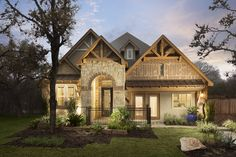 2830C Elevation Texas Homes, New Homes, New Home Communities, San Antonio, Cabin, Mansions, Park, House Styles, Places