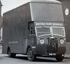 1950 Jensen BRS Pantechnican, via Flickr. Cool Trucks, Big Trucks, Old Bangers, Old Lorries, Old Wagons, Road Transport, Old Commercials, Cool Vans, British Rail
