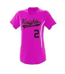 moisture wicking softball jersey Softball Uniforms, Softball Jerseys, Neck Collar, V Neck, Contrast, Clothes For Women, Stylish, Lady, Fitness