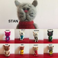 Needle Felted Cat, Needle Felted Animals, Felt Animals, Handmade Christmas, Christmas Gifts, Cat Lover Gifts, Cat Lovers, Felt Gifts, Quirky Gifts