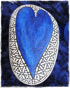 hand painted rock by peregrine blue, via Flickr