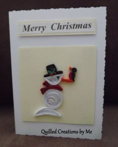 Quilled Christmas card made by Quilled Creations by Me