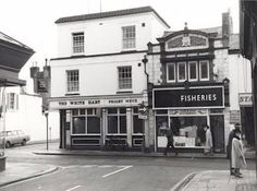 Junction of Graham Road, Montague Street and New Street, Worthing. Looking South-East from Graham Road. Site now occupied by nondescript retail premises.