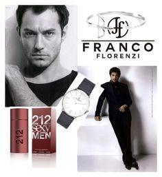 """Franco Florenzi I/5"" by m-sisic ❤ liked on Polyvore featuring Versace, VIcenza, Carolina Herrera, men's fashion and menswear"