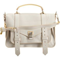 Proenza Schouler PS1 Medium Double-Sided Leather ($2,215) ❤ liked on Polyvore