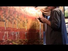 36 x 48 Gallery Wrapped Painting. A very Fall depiction with bright oranges! Birches, Autumn, Gallery, Artwork, Painting, Work Of Art, Fall Season, Roof Rack, Auguste Rodin Artwork