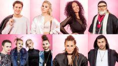 Artisterna i Melodifestivalens andra deltävling 2017.