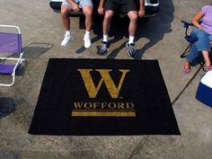 Wofford Terriers 5X6ft Indoor/Outdoor Tailgate Area Rug/Mat/Carpet