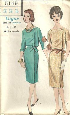 Vogue+5149+Vintage+60s+Sewing+Pattern+Dress+by+studioGpatterns,+$12.50