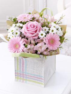 Pink Gift Bag with Chocolates - Interflora