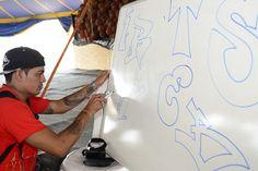 Integrantes do projeto Crescer participam de oficinas de grafite e batalha de hip hop durante Boa Vista Junina 2015 #pmbv #prefeituraboavista #roraima #boavista
