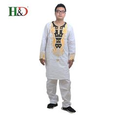 fe66a71439c4d H&D men african traditional clothe fashion designers african bazin men  embroidery Clothing Dashiki